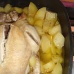 Pollo e patate al vapore