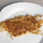 Merluzzo al forno con pistacchi o mandorle