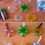 Decorazioni natalizie di plastica