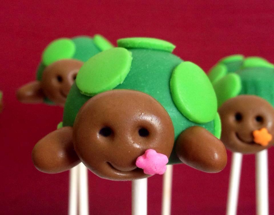 cake pops tartaruga