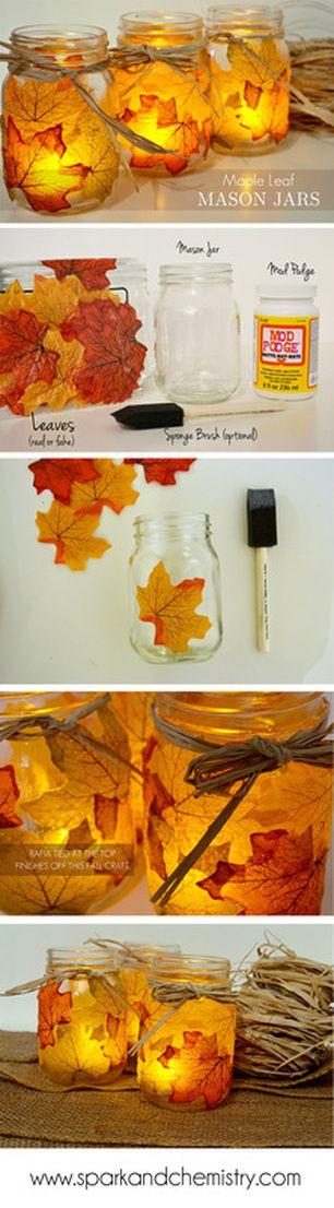 barattoli di vetro autunno