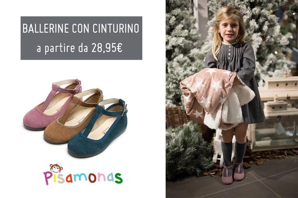 scarpe da bambina in pelle scamosciata pisamonas