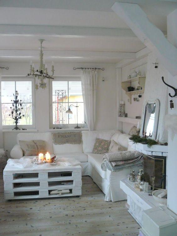 Arredamento della casa stile shabby chic supermamma - Divanetti per cucina ...