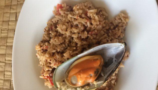 Patate, quinoa e cozze