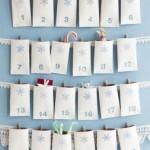 Calendario dell'avvento con i rotoli di carta igienica