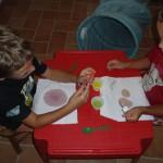 Colorare con le gocce di acqua colorata