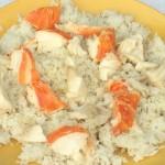 Aragosta con il riso pilaf