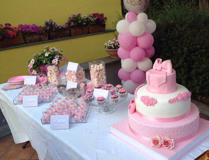 sweet table per un battesimo