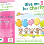 Give me 5 for charity iniziativa benefica di Kiabi